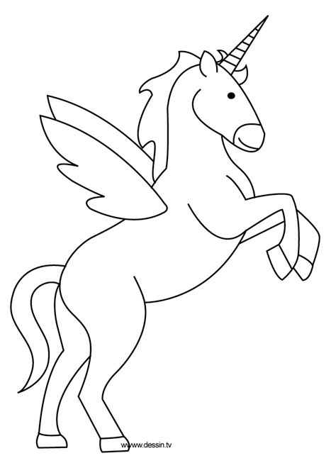 printable unicorn drawing free coloring pages of unicorn with wings