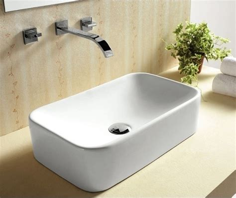 above the counter bathroom sinks sleek contemporary above counter vessel sink by caracalla