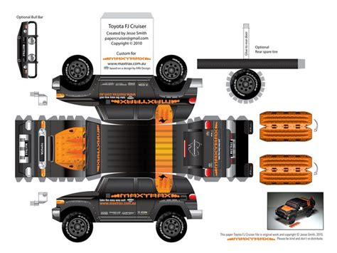 toyota fj cruiser package papercraft