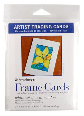 strathmore cards templates strathmore artist trading card frame cards pack of 6