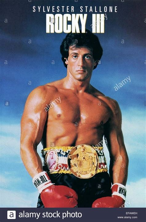 Plakat Rocky by Sylvester Stallone Poster Rocky Iii 1982 Stock Photo