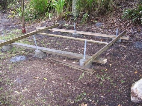 Footings For A Shed deck footings 48 quot and as to a lake as possible homebuilding breaktime