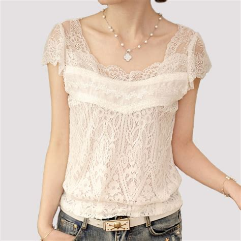 White Lace Skirt And Blouse by Summer White Lace Blouse Tops