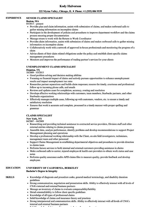 Catastrophe Claims Adjuster Cover Letter by Catastrophe Claims Adjuster Sle Resume Sponsorship Levels Template Resume Sle Objective