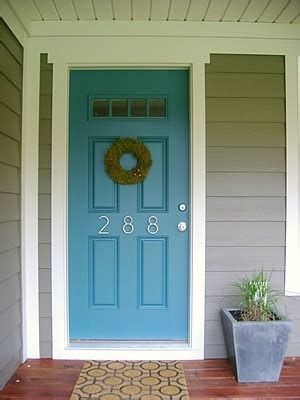 door accent colors for greenish gray house exterior grey and blue door love this but not sure