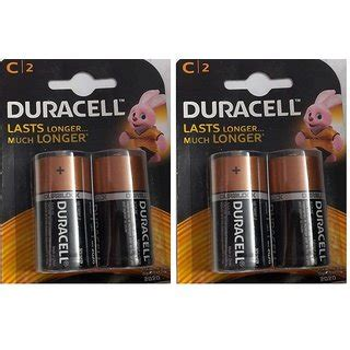 buy duracell alkaline battery c2 pack of 2 (4 cell) online
