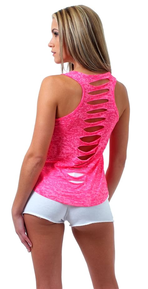 Kemeja Wanita Studs Back Detail Shirt Size M 411637 womens juniors slit burnout racer back tank top