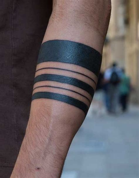 simple armband tattoo 80 line tattoos to wear symbolically