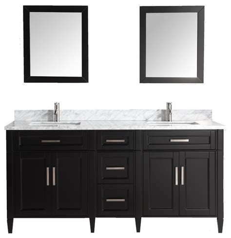 modern bedroom vanity set vanity art 72 quot bathroom vanity set with carrara marble