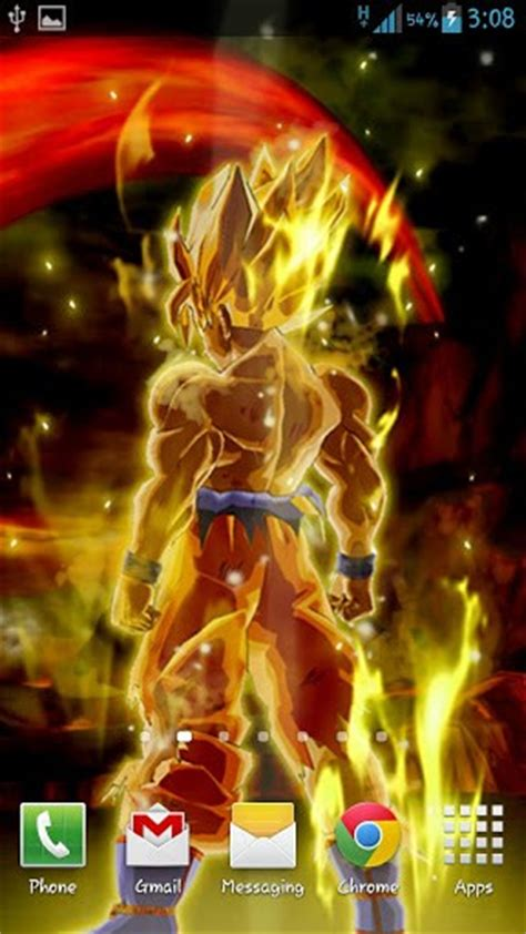 dragon ball super saiyan android live wallpaper apk download goku live wallpaper for android by bb lwps appszoom