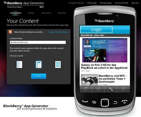 tattoo maker app for blackberry mippin blackberryappgenerator in drei schritten zur