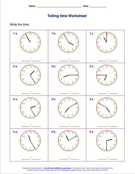 Math Time Worksheets by Grade 1 Time Worksheet Telling Time Worksheetstelling