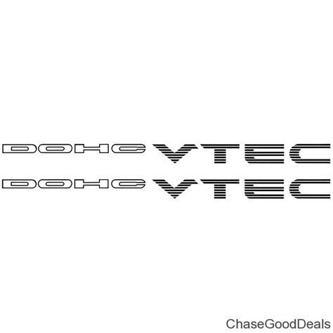 Emblem Sticker Stiker I Vtec Honda Civic Crv two 2 black dohc vtec sticker decal emblem jdm import ebay