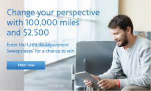 Airline Miles Sweepstakes - win 100 000 american airlines miles 2 500