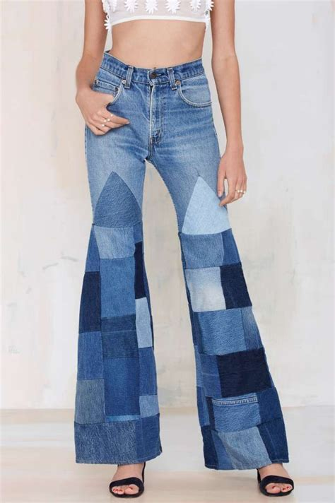 Patchwork Trousers - vintage patchwork trousers 70s