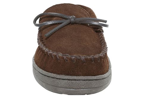 mens fox slippers mens fox ridge suede moccasin brown