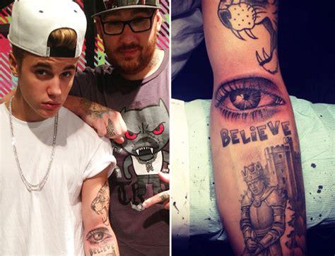 justin bieber tattoo of mom s eye justin bieber new eye tattoo on arm
