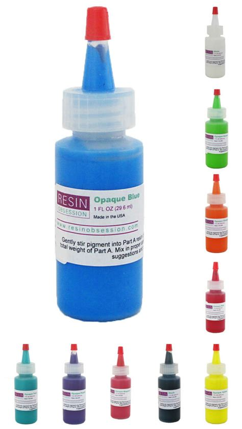 how to color resin resin obsession opaque color pigments 1 ounce bottle