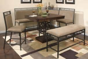 Small dining space dining set with banquette nook dining table