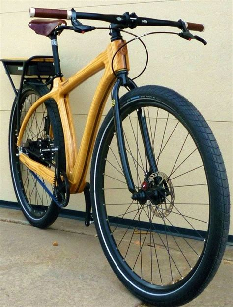 Handmade Bike Frames - checkout this custom e bike with a wood frame this is one