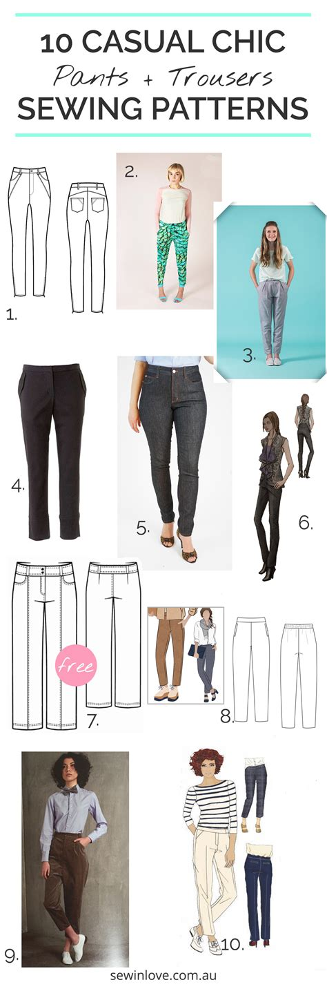 jeans pattern sewing 10 pants patterns for your handmade wardrobe sew in love
