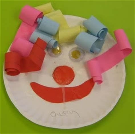Paper Plate Clown Craft - 132 best circus theme images on