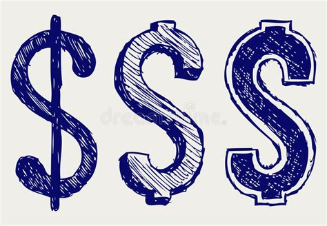 vector doodle sign dollar sign stock vector image of doodle ancient