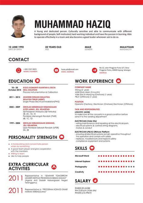 resume template word malaysia contoh cv dalam bahasa inggris terbaru beserta artinya