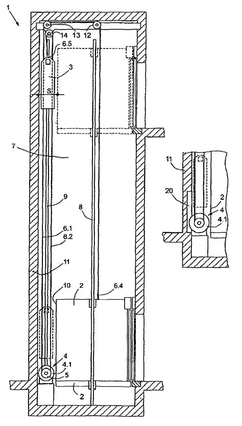elevator section patent us8109367 counterweight and suspension for an