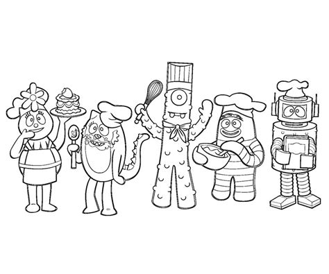 yo gabba gabba coloring sheets az coloring pages