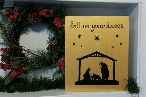 fall on your knees religious christmas home decor by