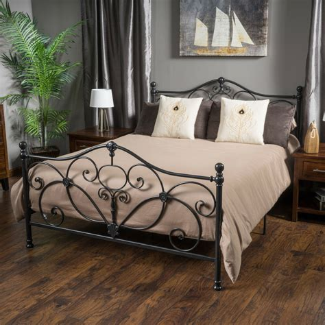 metal frame bed king size metal bed frame by christopher