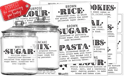 amazoncom talented kitchen pantry labels  preprinted