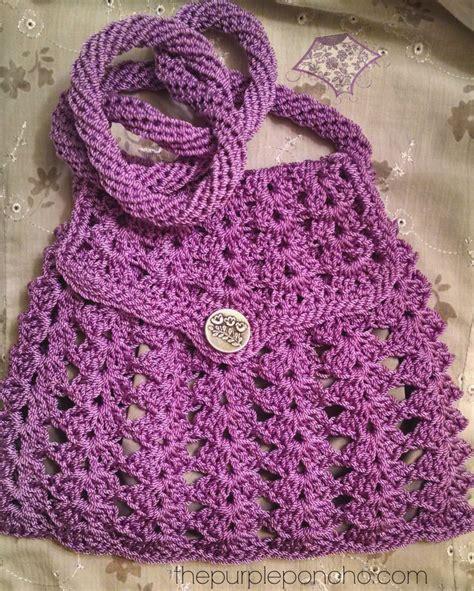 crochet lavender bags pattern free crochet crossbody bags purses the purple poncho