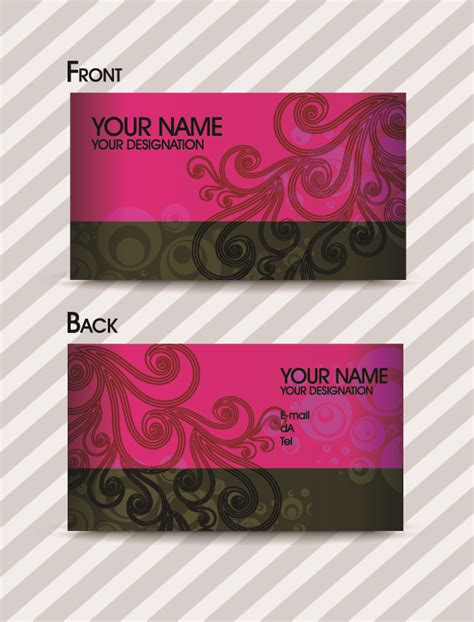 fashion pattern business card template 02 vector free