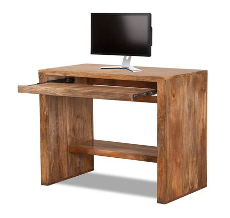 Dakota Light Mango Computer Table Desk Solid Wood Like Oak