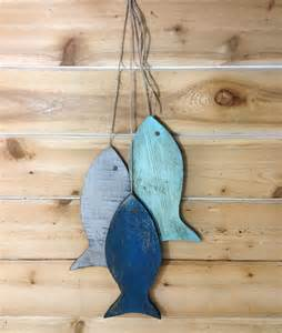 Fish Wall Decor by Rustic Wooden Fish Wooden Rustic Fish Painted String Of Fish