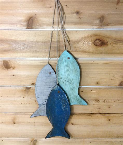 fish decor for home rustic wooden fish wooden rustic fish painted string of fish