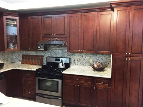 Cer Kitchen Cabinets Walnut Colored Maple Flat Panel Kitchen Cabinets