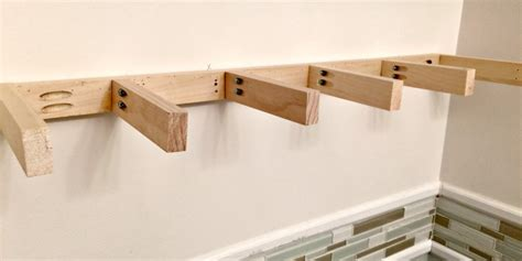 Fitting A Floating Shelf by How To Make Floating Shelves Create And Babble