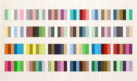 complementary color palette 24 complementary color palettes vector free