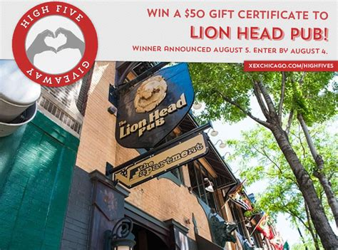 win a 50 gift certificate to lion head pub xex hair