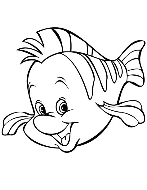 cartoon fish coloring pages free printable coloring