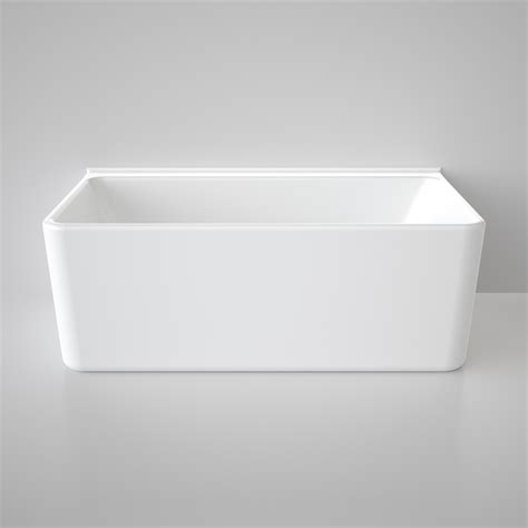 bathtubs nz caroma freestanding cube bath 1600mm back to wall white