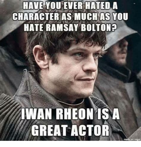 Ramsay Bolton Meme - 25 best memes about iwan rheon iwan rheon memes