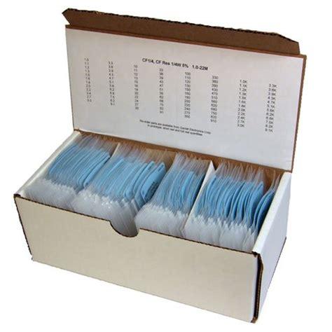 surface mount resistor kits vishay dale 100 each of 90 values smd surface mount thick resistor kit 0603 5 1 10m