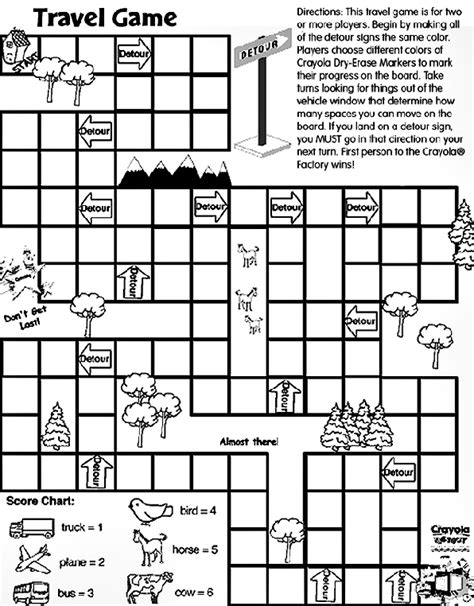 printable coloring pages games travel game coloring page crayola com