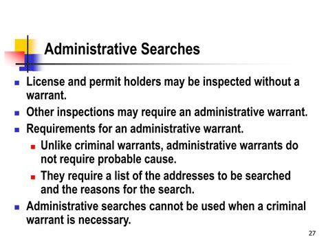 Administrative Search Warrant Ppt Introduction To Administrative Powerpoint Presentation Id 180776