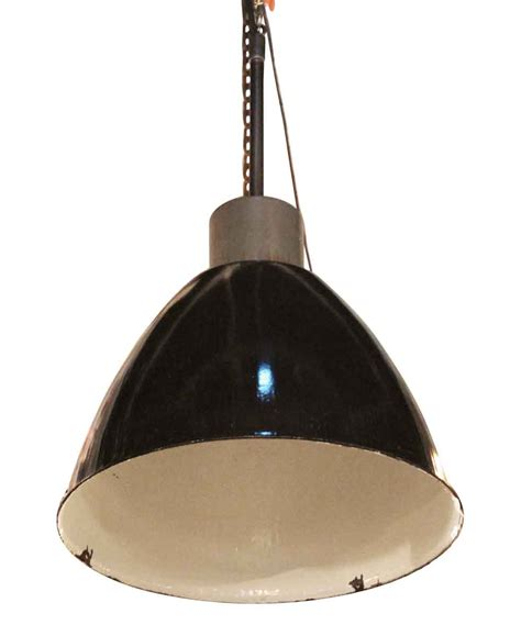 Black Industrial Pendant Light Black Enamel Industrial Pendant Light Olde Things