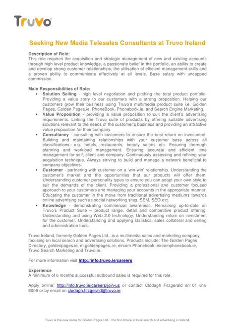 truvo new media telesales consultant description